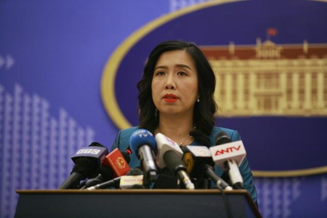 Bà Lê Thị Thu Hằng thông tin tại họp báo chiều 14/6
