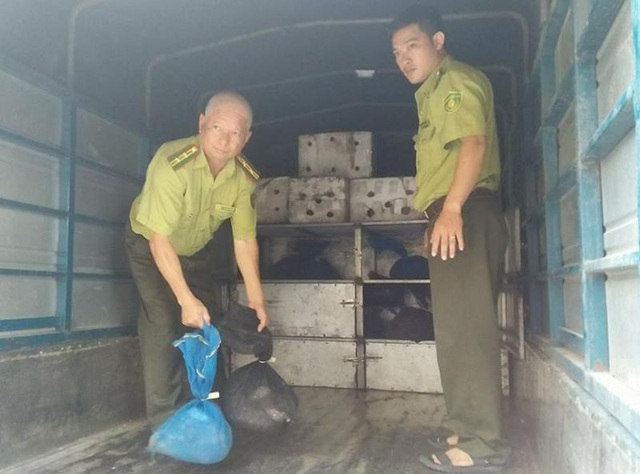 Xe tải bị phát hiện vận chuyển gần 3,5 tạ tê tê