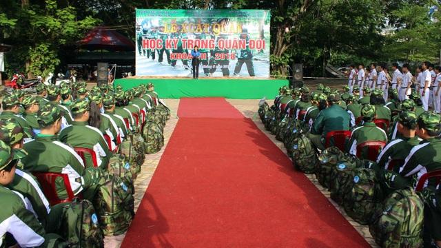 75 chiến sĩ nhí tham gia khóa học kỳ trong quân đội