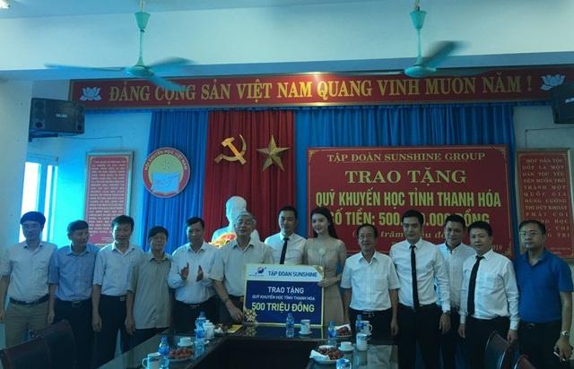 Hội Khuyến học Thanh Hóa tiếp nhận 500 triệu đồng tiền quỹ