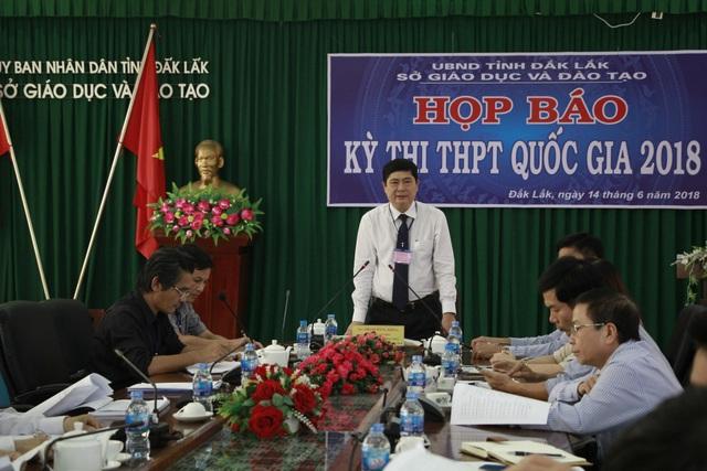 Sở GD-ĐT Đắk Lắk họp báo về công tác chuẩn bị cho kỳ thi THPT quốc gia năm 2018.