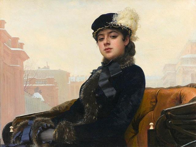 """Bức """"Người đàn bà xa lạ"""" (1883) - Ivan Kramskoy"""