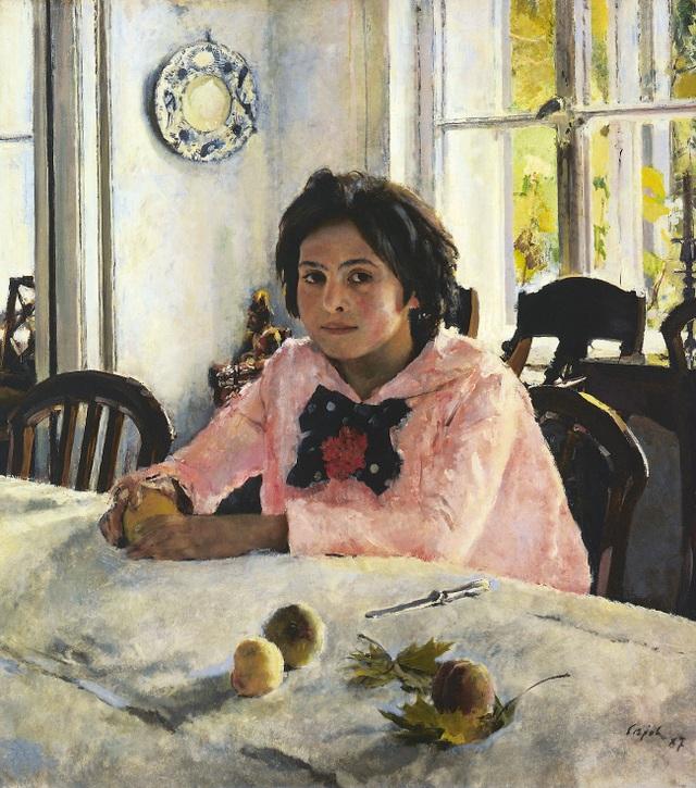 """Bức """"Cô gái bên những trái đào"""" (1887) - Valentin Serov"""