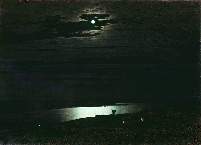 """Bức """"Đêm trăng trên sông Dnieper"""" (1880) - Arkhip Kuindzhi"""