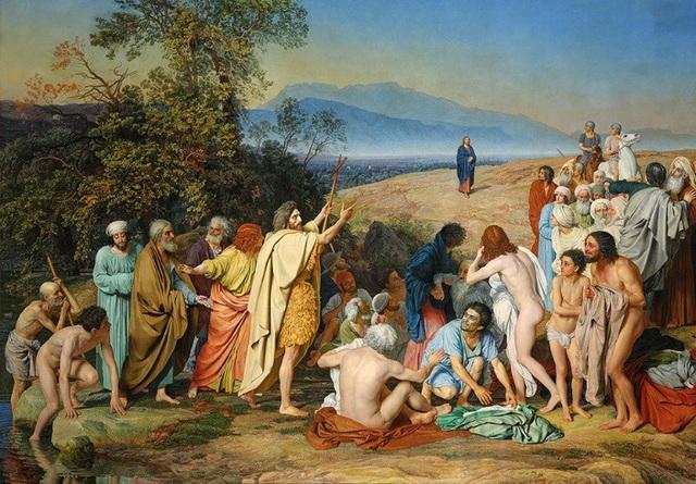 """Bức """"Sự hiện thân của Chúa trước con người"""" (1837-1857) - Alexander Ivanov"""