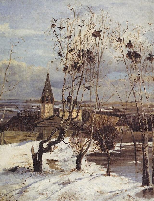 """Bức """"Đàn quạ trở về"""" (1871) - Aleksey Savrasov"""