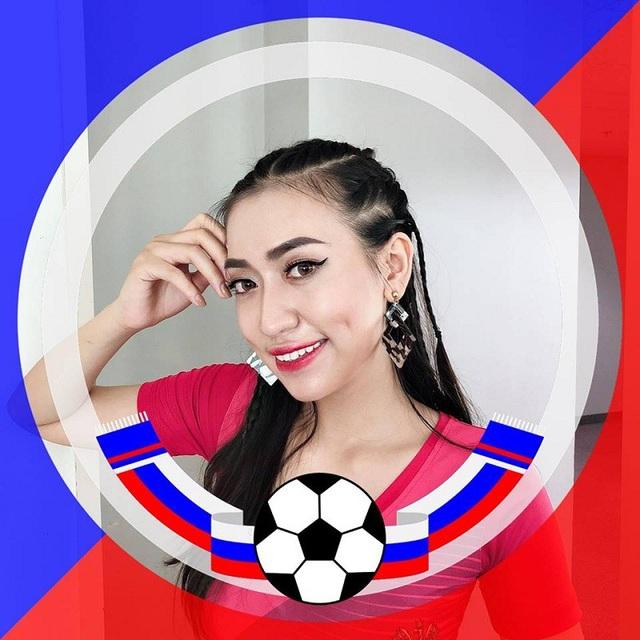"""Nữ cổ động đội Nga tại """"Nóng cùng World Cup"""" giàu thành tích thi hoa khôi - 1"""