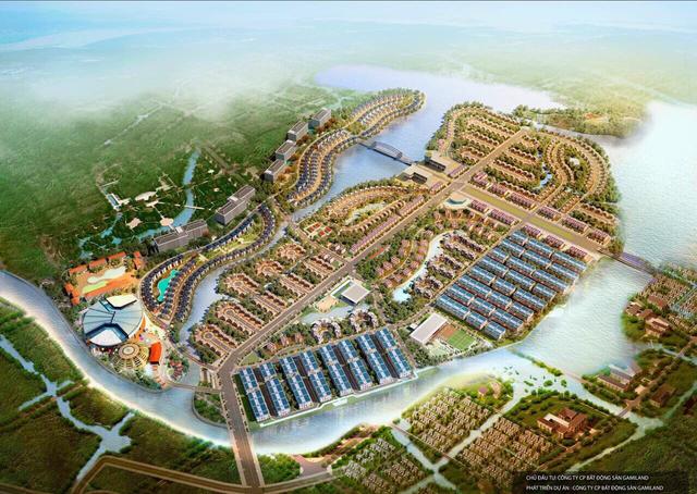 Phối cảnh tổng thể dự án Eco Charm Premier Island- Đảo ngọc phía Tây Bắc thành phố Đà Nẵng.
