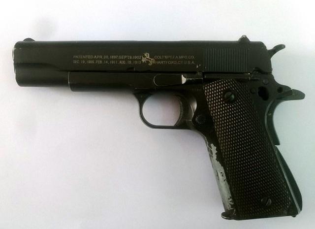 Khẩu súng cơ quan công an thu được