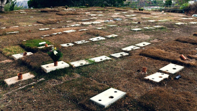 Những ngôi mộ tại nghĩa trang Cementerio del Este đã bị trộm hết bia. (Nguồn: Adriana Loureiro Fernandez/Bloomberg)