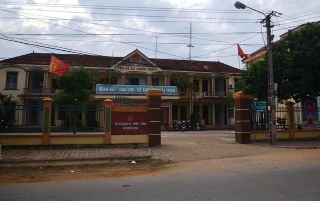 UBND xã Nghĩa Thái - nơi ông Thái Doãn Tồn - nguyên Bí thư Đảng ủy và ông Phan Xuân Thủy - nguyên Chủ tịch UNND xã đã từng làm việc
