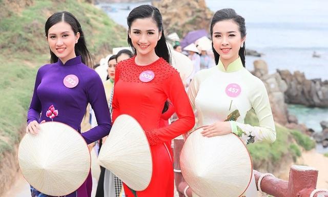 30 thí sinh hoa hậu phía Nam làm sáng bừng Eo Gió với áo dài rực rỡ  Hoa Hậu - 10