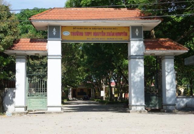 Trường THPT Nguyễn Xuân Nguyên - một trong những trường nằm trong diện giải thể sắp tới
