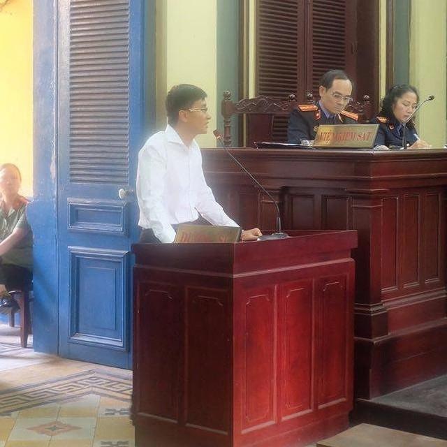 Ông Cao Toàn Mỹ tại phiên tòa hồi tháng 6-2017