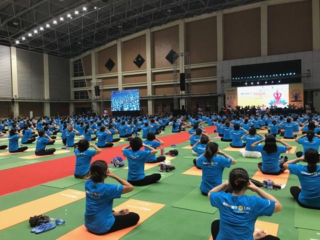Người tham gia đến từ rất nhiều câu lạc bộ Yoga tại Hà Nội cũng như các tỉnh thành lân cận