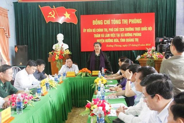 Phó Chủ tịch thường trực Quốc hội đã có buổi làm việc với lãnh đạo xã Hướng Phùng