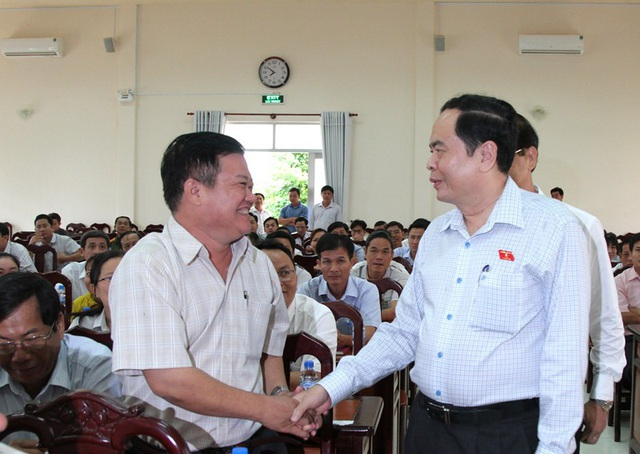 Chủ tịch Trần Thanh Mẫn gặp gỡ cử tri