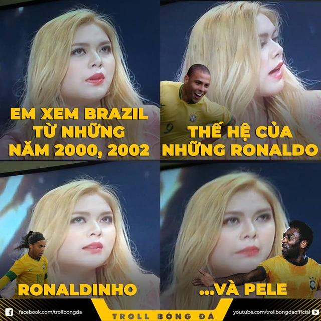 Diệp Anh bị chế nhạo vì nhớ nhầm thông tin bóng đá Brazil