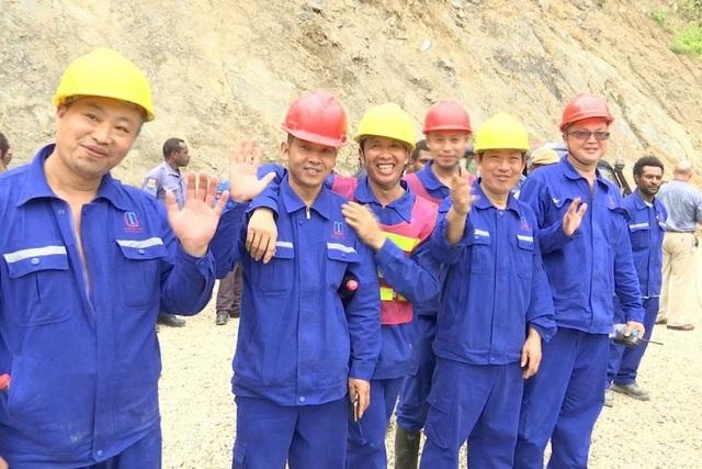 Công nhân Trung Quốc tại một dự án xây dựng do nước này đầu tư ở Papua New Guinea. (Ảnh: ABC News)