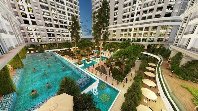Các tiện ích nghỉ dưỡng, giải trí được đầu tư để thỏa mãn nhu cầu nghỉ dưỡng định kỳ của cư dân (Hình minh họa từ dự án Sunshine Garden)