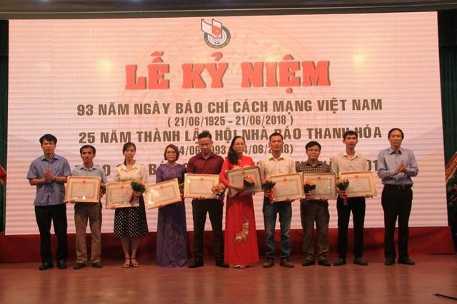 Các tác giải đoạt giải B giải Báo chí Trần Mai Ninh 2017.