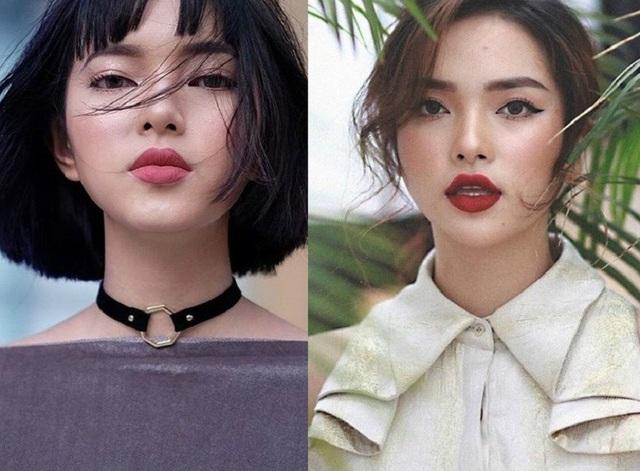 Hot girl Châu Bùi (bên trái) và Diệu Linh (bên phải) có ngoại hình rất giống nhau