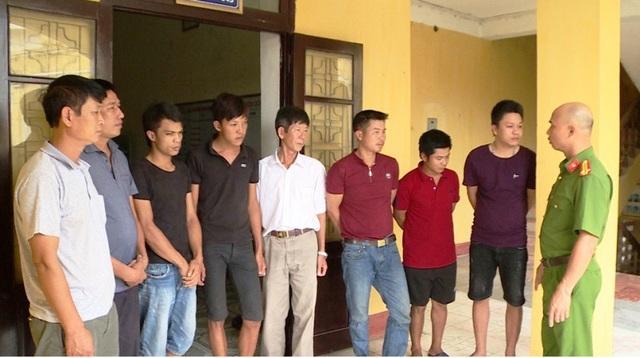 Các đối tượng bị bắt giữ (ảnh: Công an Thái Bình)