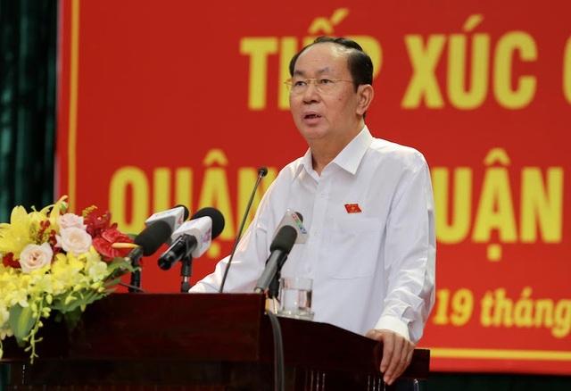 Đoàn ĐBQH TPHCM do Chủ tịch nước Trần Đại Quang dẫn đầu đã có buổi tiếp xúc cử tri quận 1, 3 và 4