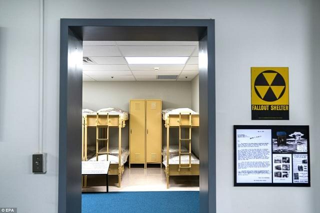 Một căn phòng nghỉ cho các nghị sĩ bên trong hầm trú ẩn nằm dưới khu nghỉ dưỡng Greenbrier.