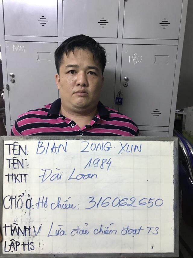 Đối tượng người Đài Loan trong nhóm lừa đảo