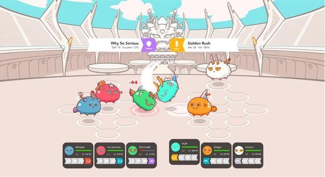 Những nhân vật trong game Axie Infinity có thể tương tác với nhau giống như trên mạng xã hội.