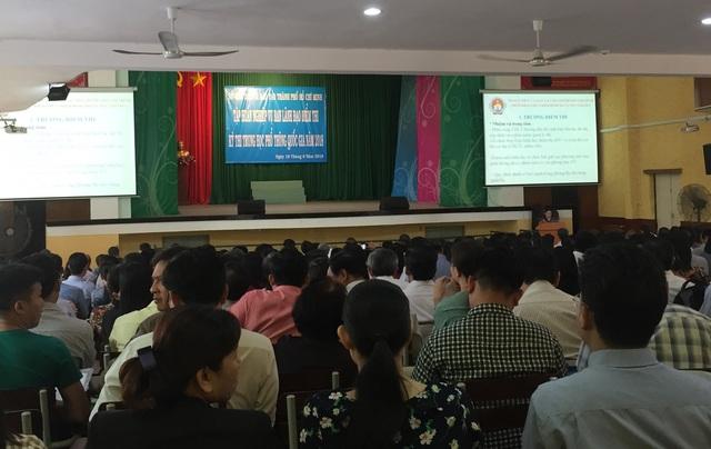 Hàng trăm lãnh đạo điểm thi dự tập huấn nghiệp vụ thi THPT quốc gia 2018 do Sở GD-ĐT TPHCM tổ chức
