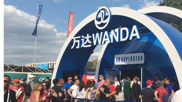 Gian hàng của thương hiệu Wanda tại World Cup 2018 (Ảnh: SCMP)