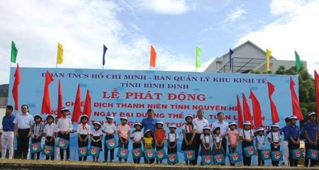 Tuổi trẻ Bình Định tra quân Chiến dịch Thanh niên tình nguyện Hè năm 2018.