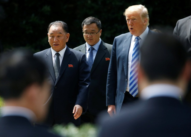 """Tổng thống Trump cho biết ông không muốn sử dụng cụm từ """"sức ép tối đa"""" mà chính quyền Mỹ từng dùng trong cách tiếp cận với Triều Tiên, bởi quan hệ giữa Mỹ và Triều Tiên đang dần được cải thiện. (Ảnh: Reuters)"""
