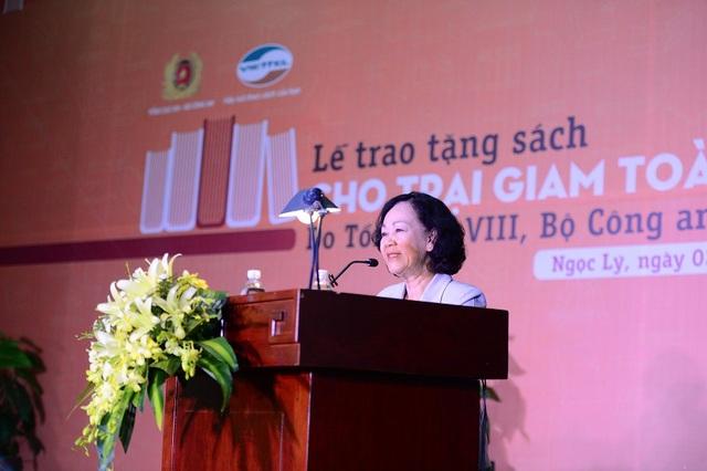 Bà Trương Thị Mai, Ủy viên Bộ Chính trị, Bí thư TW Đảng, Trưởng Ban Dân vận TW, người đưa ra ý tưởng chương trình bổ sung sách cho các trại giam trên toàn quốc.