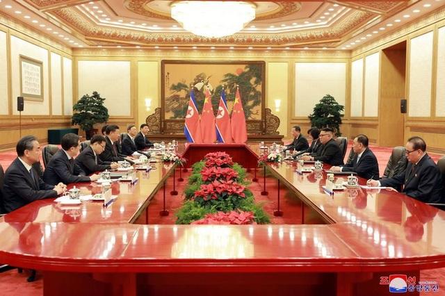 Chủ tịch Trung Quốc và nhà lãnh đạo Triều Tiên hội đàm tại thủ đô Bắc Kinh.
