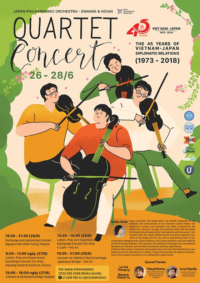 Tứ tấu giao hưởng Nhật Bản sẽ biểu diễn tại Hội An