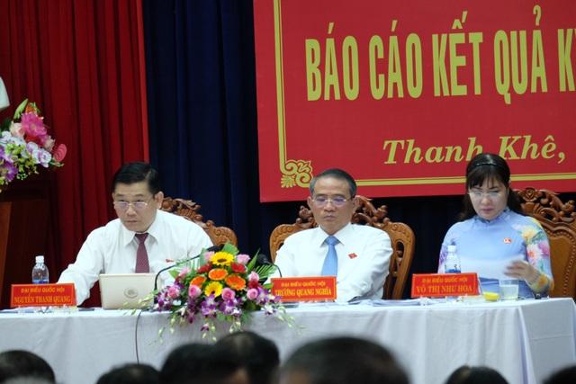 Các ĐBQH TP Đà Nẵng tiếp xúc cử tri tại quận Thanh Khê sáng 21/6