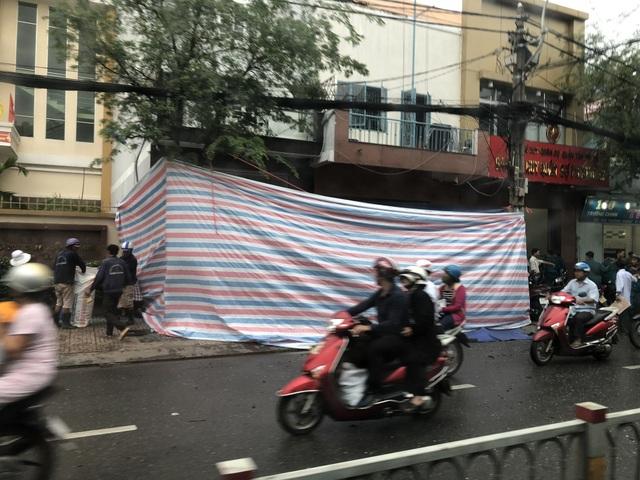 Trụ sở công an phường sát bên Ban chỉ huy quân sự phường được rào kín sau vụ nổ