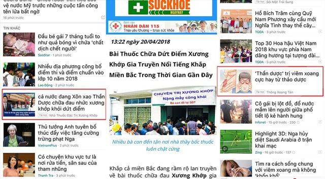 """Baomoi.com đang tiếp tay cho rất nhiều quảng cáo """"thần dược"""" sặc mùi dối trá."""