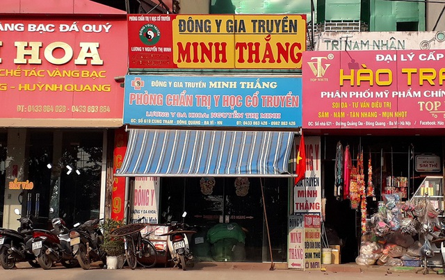 Nhà thuốc Minh Thắng gần như không có khách tại thời điểm PV quan sát.
