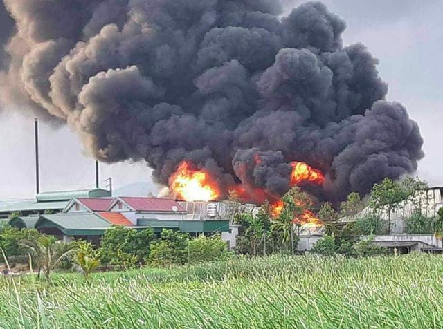 Cháy lớn tại kho của công ty cổ phần thông Quảng Ninh - 1