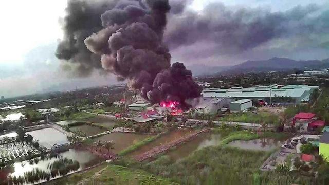 Cháy lớn tại kho của công ty cổ phần thông Quảng Ninh - 2