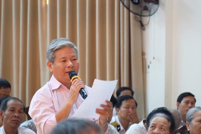 Cử tri Lê Chí Bảy đặt câu hỏi về kết quả việc thành phố yêu cầu ông Lê Văn Tam - Giám đốc Công an TP giải trình về tài sản