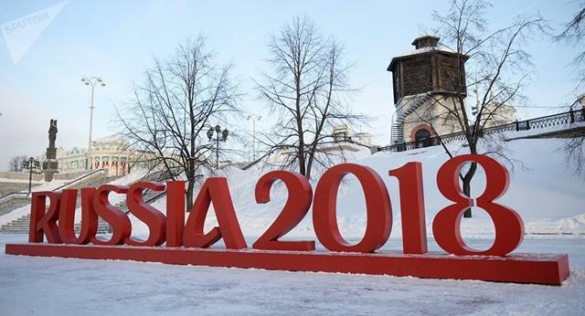 World Cup 2018 được tổ chức tại Nga (Ảnh minh họa: Sputnik)