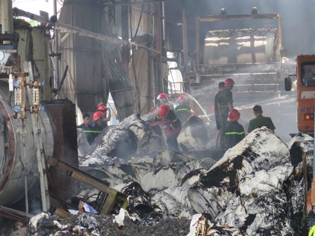 Đám cháy đã được cảnh sát phòng cháy chữa cháy tỉnh Bắc Ninh khống chế không để cháy lây lan