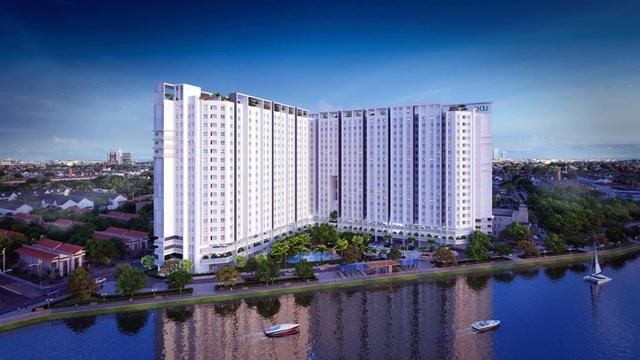 Marina Riverside tọa lạc tại Bắc Sài Gòn, cách trung tâm thành phố Hồ Chí Minh 15 phút di chuyển