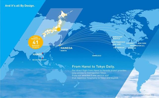 ANA có mạng bay nội địa Nhật Bản và quốc tế rộng lớn