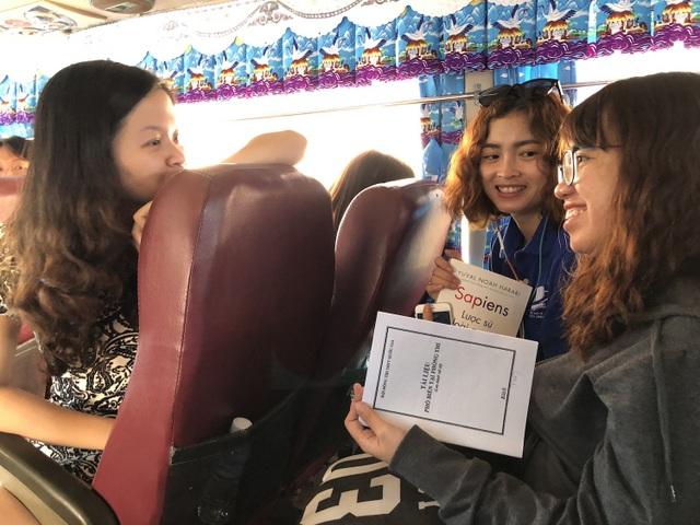 Hành trình đến Bình Thuận hơn 200km nhưng các cán bộ vẫn rất hớn hở